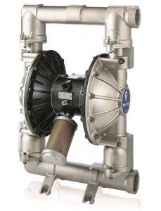 "Husky 1590 Stainless Steel (1-1/2"" NPT) Standard Pump, Aluminum Center Section, TPE Seats, Acetal Balls & TPE Diaphragm"